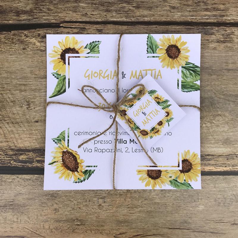 Partecipazioni Matrimonio Con Girasoli : Partecipazioni di matrimonio creative girasoli